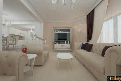 Design interior living casa stil clasic  Targoviste